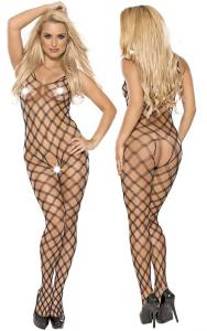 Fishnet catsuit L-XL/black